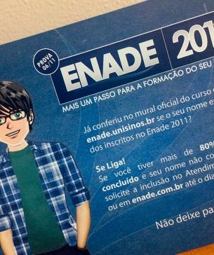 Campanha Enade - Unisinos | Last update27/10/2017