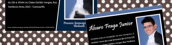 Convite de formatura Álvaro
