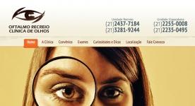 Site Oftalmo Recreio